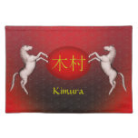 Kimura Monogram Horse Placemat
