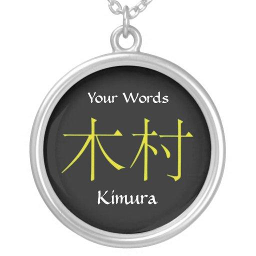 Kimura Monogram Pendants