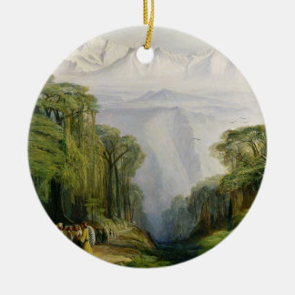 Kinchinjunga from Darjeeling, 1879 (oil on canvas) Christmas Ornament