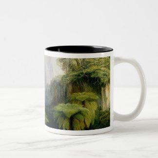 Kinchinjunga from Darjeeling, 1879 (oil on canvas) Two-Tone Coffee Mug