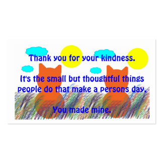 Kind Acts Thank-You Pack Of Standard Business Cards