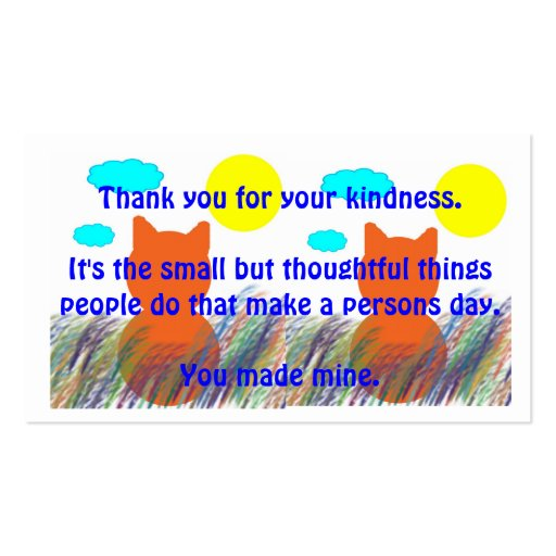 Kind Acts Thank-You Business Card
