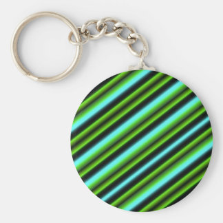 Kind Deco Retro touched in green blue black Basic Round Button Key Ring