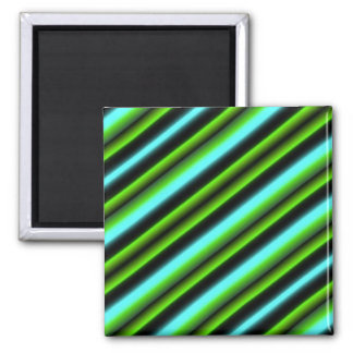 Kind Deco Retro touched in green blue black Square Magnet