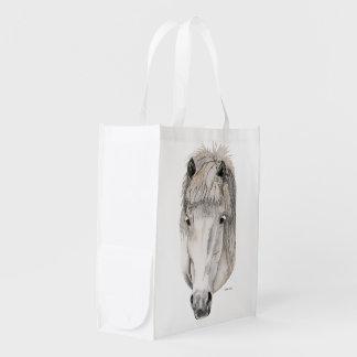 Kind Eyes ~ Icelandic Horse Reusable Grocery Bag