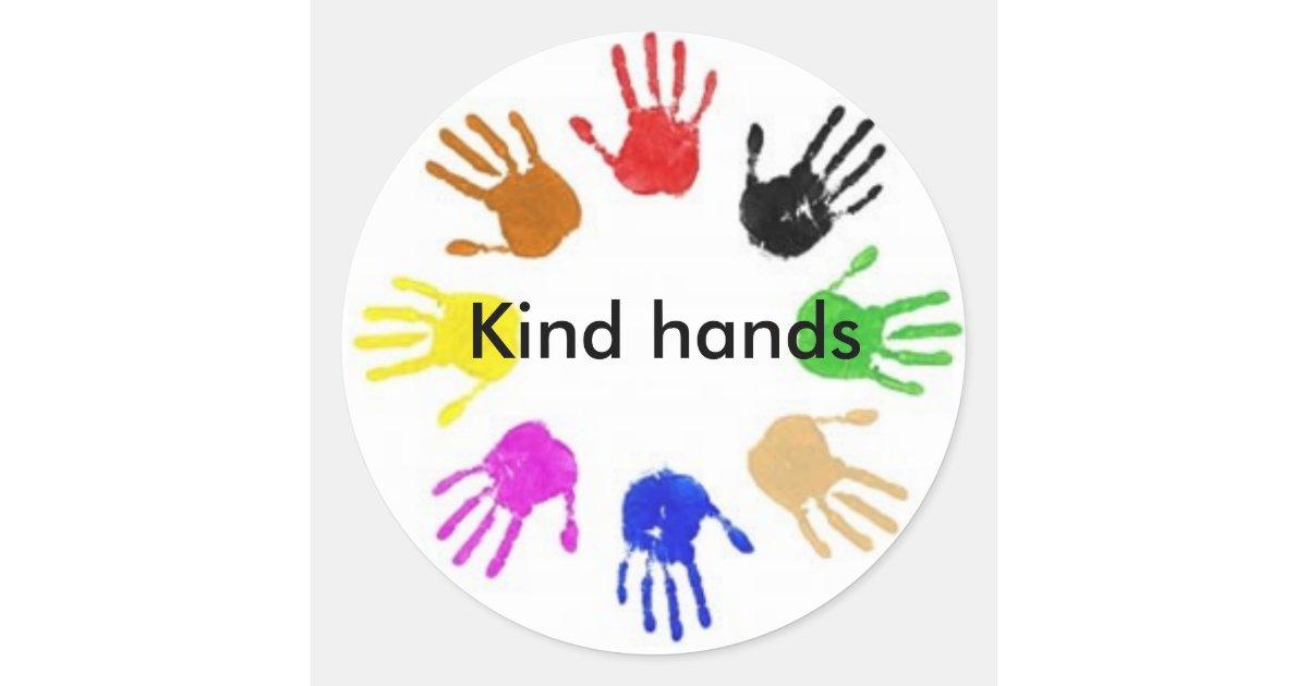 Kind- Hands Round Sticker
