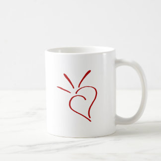 Kind Heart Red - Basic White Mug