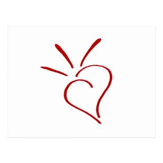 Kind Heart Red - Postcard