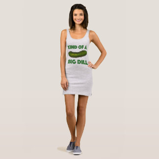 Kind of a Big Dill (Deal) Green Kosher Pickle Sleeveless Dress