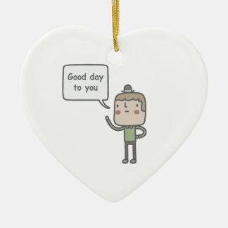 Kind Stranger Ceramic Heart Decoration