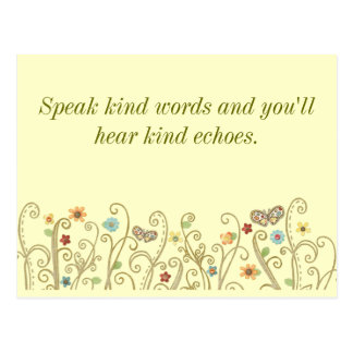 Kind Words Kind Echoes Postcard