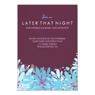 KINDA BLUE FLOWERS Bat Mitzvah Party Card