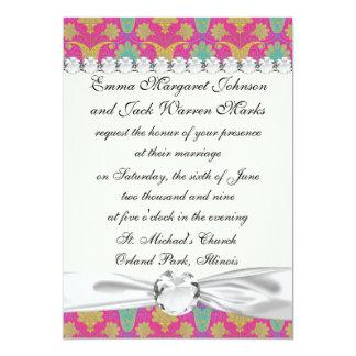 kinda hippie damask 13 cm x 18 cm invitation card