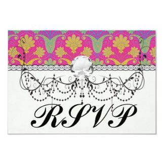 kinda hippie damask 9 cm x 13 cm invitation card