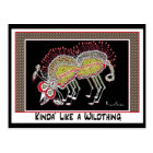 """""""KINDA' LIKE A WILDTHING""""collectable trade Postcard"""