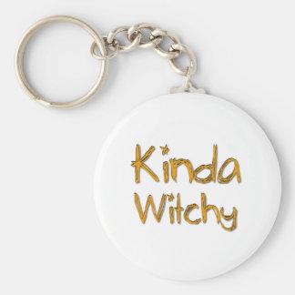 Kinda Witchy Basic Round Button Key Ring