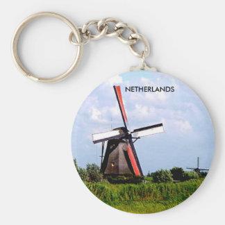 KINDERDIJK NETHERLANDS KEYCHAIN