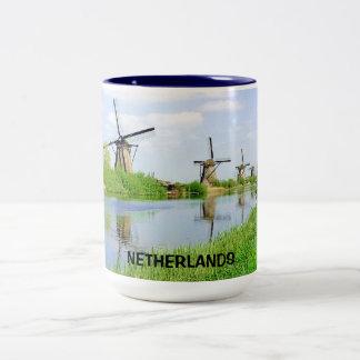 KINDERDIJK, NETHERLANDS Two-Tone COFFEE MUG