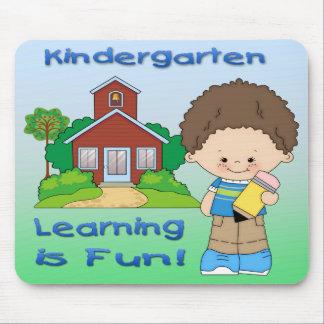 Kindergarten Boy Learning is Fun Mouse Pad