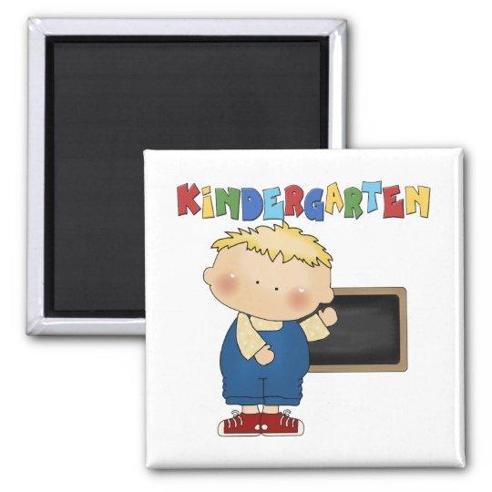 Kindergarten Boy Square Magnet