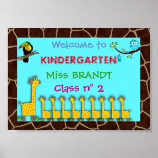 Kindergarten Class,Classroom sign & teacher frame Poster