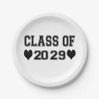 Kindergarten Class of 2029 7 Inch Paper Plate