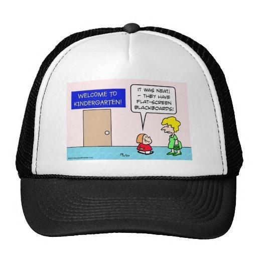 kindergarten flat screen blackboard trucker hat