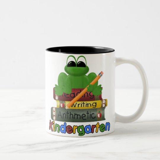 Kindergarten Frog Two-Tone Coffee Mug
