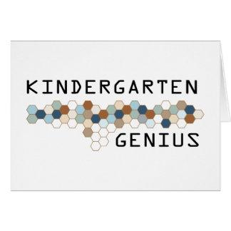 Kindergarten Genius Greeting Card