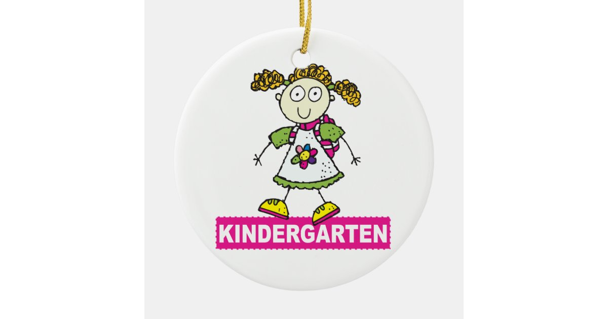 Kindergarten Girl Christmas Ornament | Zazzle.co.uk