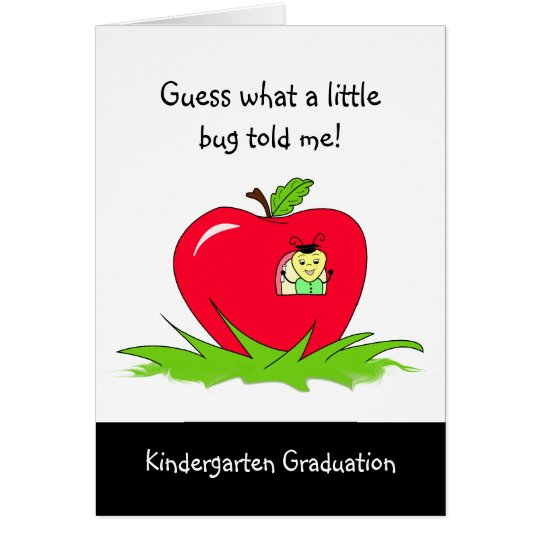 Kindergarten Graduate Red Apple Congratulations Card
