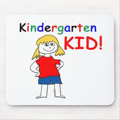 Kindergarten Kid Girls Mouse Pad