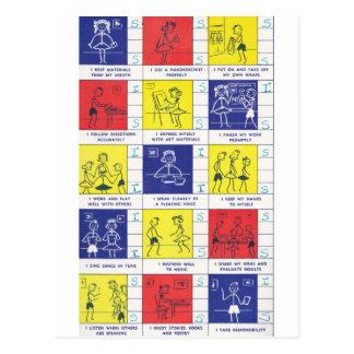 Kindergarten Report Card Postcard