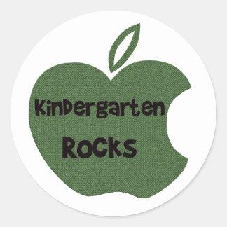 Kindergarten Rocks Classic Round Sticker