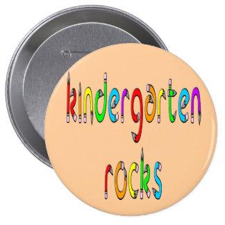 Kindergarten Rocks - Pencil Round Buttons