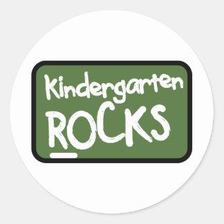 Kindergarten Rocks T-shirt Classic Round Sticker