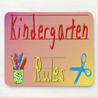 Kindergarten Rules Mouse Mat