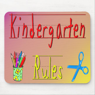 Kindergarten Rules Mouse Pads