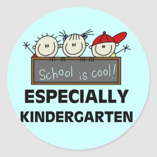 Kindergarten School is Cool Tshirts and Gifts Classic Round Sticker