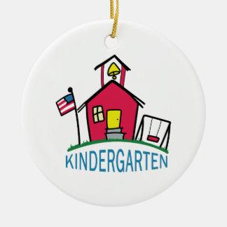 KINDERGARTEN SCHOOL ROUND CERAMIC DECORATION