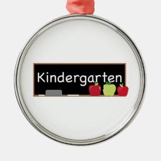 Kindergarten Silver-Colored Round Decoration