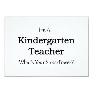 Kindergarten Teacher 13 Cm X 18 Cm Invitation Card