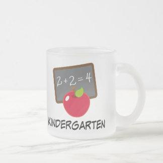 Kindergarten Teacher Frosted Glass Mug