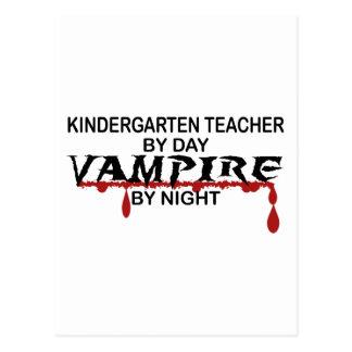 Kindergarten Teacher Vampire by Night Postcard