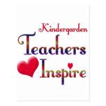 Kindergarten Teachers Inspire Post Cards