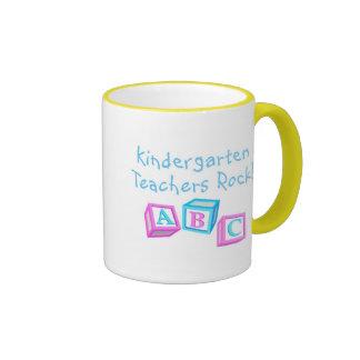 Kindergarten Teachers Rock Ringer Mug