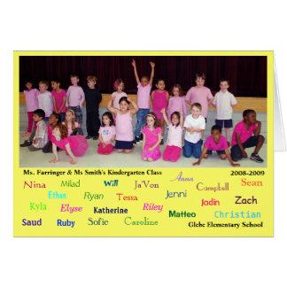 Kindergarten thank you - specials teachers etc card