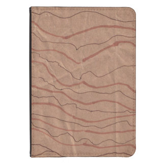 Kindle Cover with Brown Marbled Design