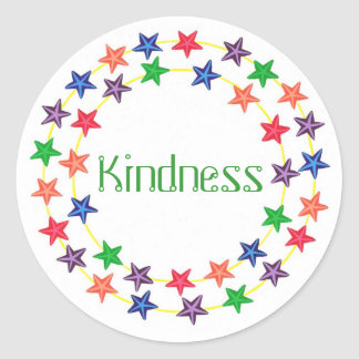 Kindness, Affirmation stickers with colorful stars