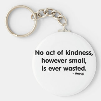 Kindness Basic Round Button Key Ring
